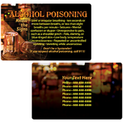 Alcohol Poisoning Wallet Card