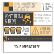 Drinking & Driving Prevention Coaster