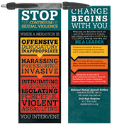 Continuum of Sexual Violence Banner Pen