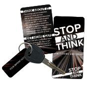 Drinking and Driving Wallet Card Key Tag